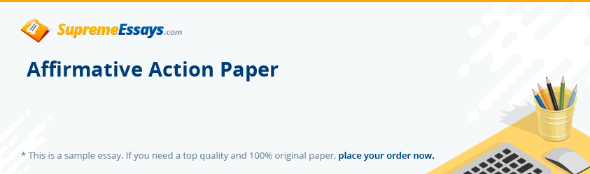 Affirmative Action Paper