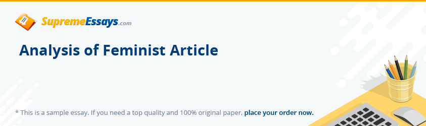 Analysis of Feminist Article