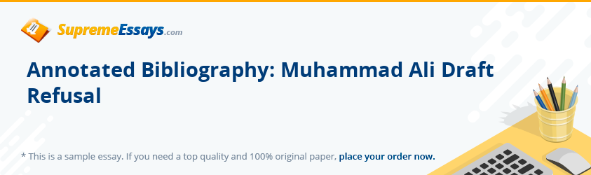 Annotated Bibliography: Muhammad Ali Draft Refusal