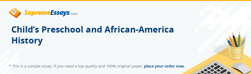 Child's Preschool and African-America History