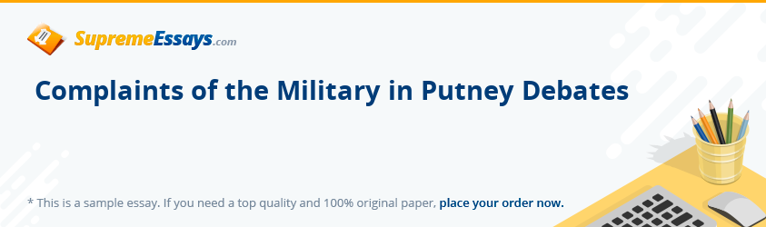 Complaints of the Military in Putney Debates