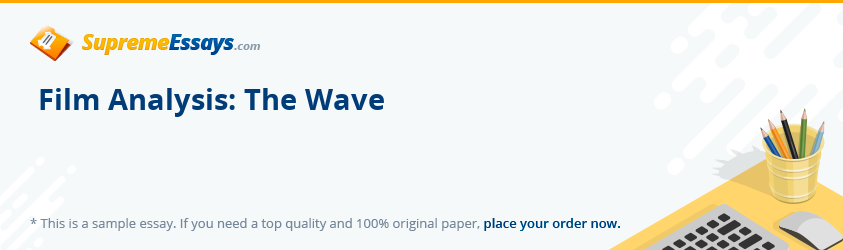 Film Analysis: The Wave