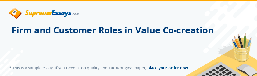 Firm and Customer Roles in Value Co-creation