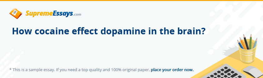 How cocaine effect dopamine in the brain?