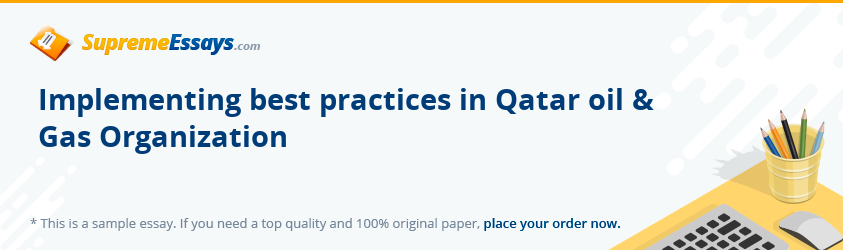 Implementing best practices in Qatar oil & Gas Organization