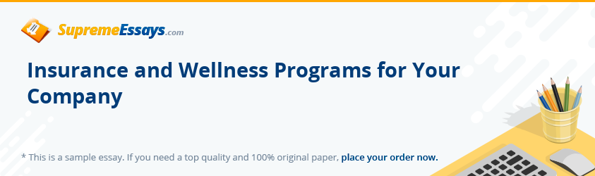 Insurance and Wellness Programs for Your Company