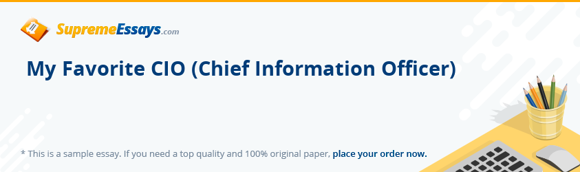 My Favorite CIO (Chief Information Officer)
