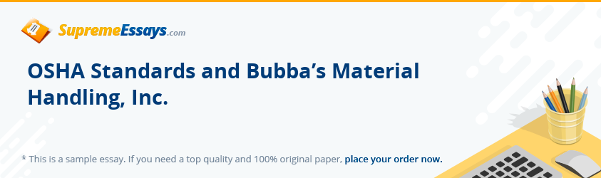 OSHA Standards and Bubba's Material Handling, Inc.