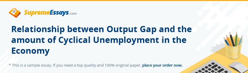 Relationship between Output Gap and the amount of Cyclical Unemployment in the Economy