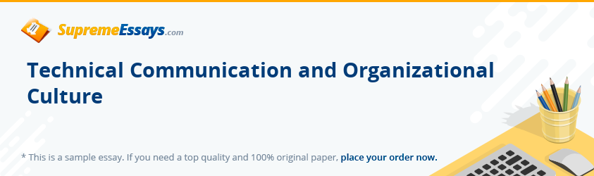 Technical Communication and Organizational Culture