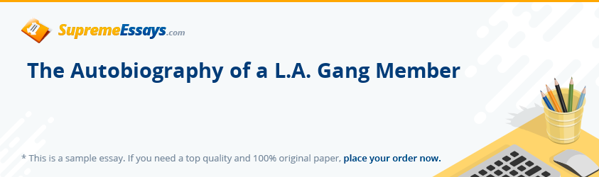 The Autobiography of a L.A. Gang Member