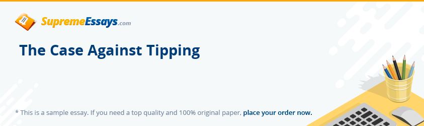 The Case Against Tipping