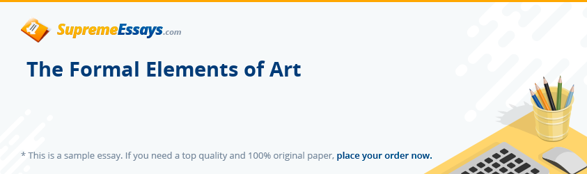 The Formal Elements of Art