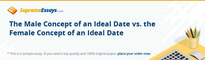 The Male Concept of an Ideal Date vs. the Female Concept of an Ideal Date