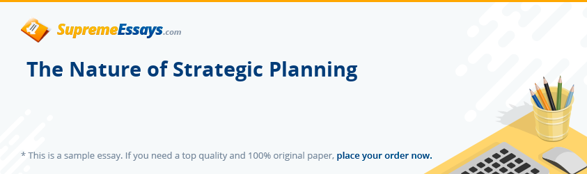 The Nature of Strategic Planning