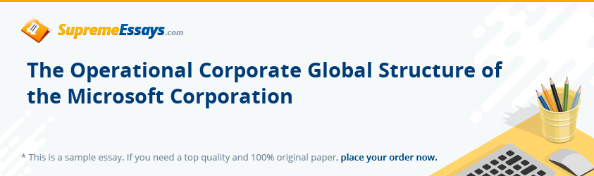 The Operational Corporate Global Structure of the Microsoft Corporation