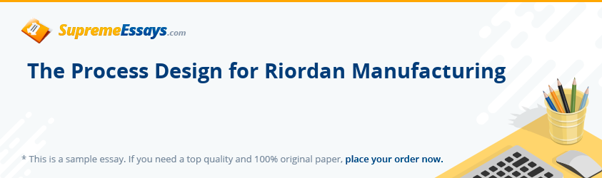 The Process Design for Riordan Manufacturing