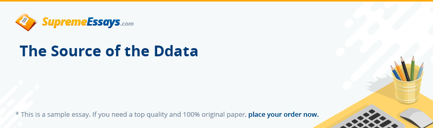 The Source of the Ddata