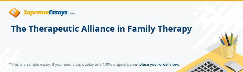 The Therapeutic Alliance in Family Therapy