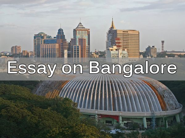 Essay on Bangalore